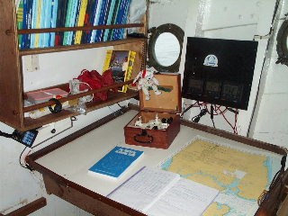 Chart table ready for serious navigation work!