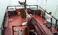 View of the poop deck - click for larger image