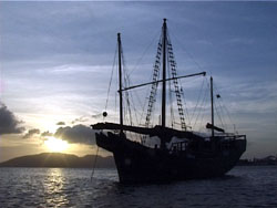 Precious Dragon anchored in Sabang Harbour